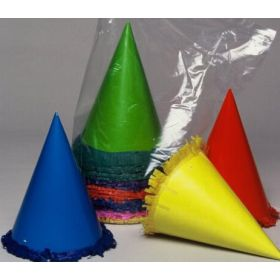 Party Hats Neon With Trim Pkt 50