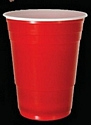 Cup Plastic Red 15oz Red With White Inne