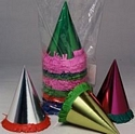"Party Hats Cone 10"" Foil & Glitter Mixed"